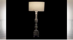 LAMPE DE TABLE MANGUE TISSU 35,5X35,5X82 DÉCAPAGE