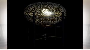 LAMPE DE TABLE MÉTAL 35X35X33 DORÉ