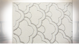 TAPIS POLYESTER 160X230X1 900 GSM, NUAGES BLANC
