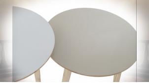 TABLE AUXILIAIRE SET 2 RUBBERWOOD 50X50X49,5 BLANC