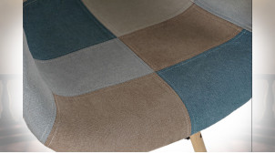 CHAISE POLYESTER PIN 62X61X83 45,5CM PATCHWORK