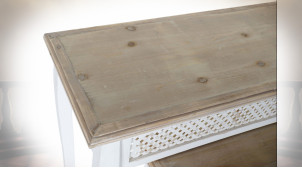 CONSOLE SET 3 SAPIN 120X40X78 DÉCAPAGE BLANC