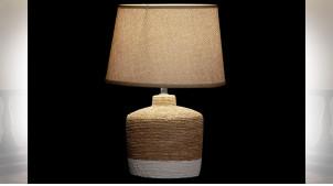 LAMPE DE TABLE CIMENT POLYESTER 25X25X36 2 MOD.