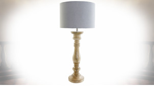 LAMPE DE TABLE MANGUE POLYESTER 30X30X69,5 MARRON