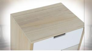 TABLE DE CHEVET RUBBERWOOD 40X30X48 2 CAJ,
