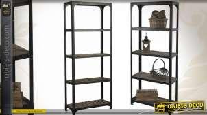 Etagère en bois et métal de style industriel (205 cm)