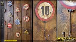 Crochet panneau de signalisation rétro : Limitation à 10 tonnes