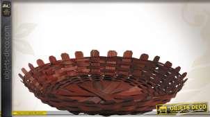Corbeille plate en bambou Ø 23 cm