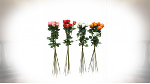 BOUQUET POLYESTER PE 20X20X82 9 ROSES 4 MOD.