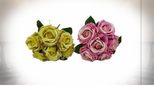 BOUQUET POLYESTER PE 20X20X22 6 ROSES 2 MOD.
