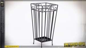 Porte-parapluies en métal imitation fer forgé style classique 52 cm
