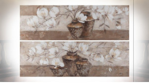 TABLEAU TOILE PIN 150X3,5X50 VASES 2 MOD.