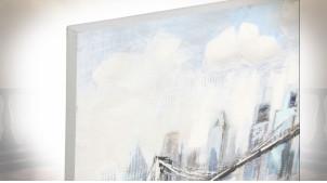 TABLEAU TOILE MDF 120X3X60 BRIDGE NEW YORK 2 MOD.