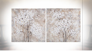TABLEAU TOILE PIN 80X3,5X80 BRANCHES 2 MOD.