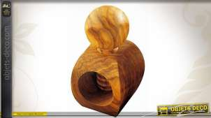 Casse-noix en bois massif d'olivier