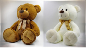 PELUCHE POLYESTER 20X25X45 OURS 2 MOD.