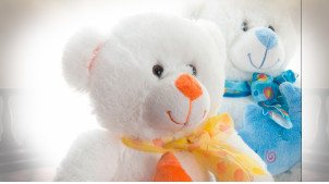 PELUCHE POLYESTER 10X10X20 20 CM OURS 2 MOD.