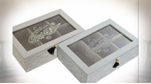 BOÎTE INFUSIONS MDF VERRE 23X15X7 PAISLEY 2 MOD.