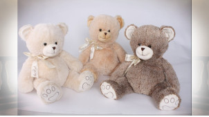 PELUCHE POLYESTER 53X53X40 OURS 3 MOD.