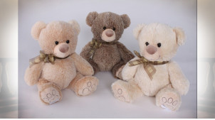 PELUCHE POLYESTER 15X30 OURS 3 MOD.