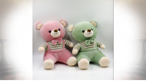 PELUCHE POLYESTER 19X20X28 OURS 2 MOD.