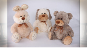 PELUCHE POLYESTER 15X35 ANIMAUX 3 MOD.