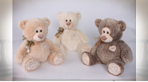 PELUCHE POLYESTER 45X35 OURS 3 MOD.