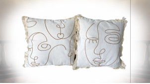 COUSSIN POLYESTER 45X10X45 FACES 2 MOD.