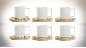 CAFÉ SET 6 PORCELAINE 16X16X25 75ML. MANDALA