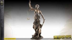 Grande statuette La Justice finition bronze antique 75 cm