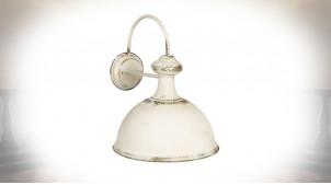 Applique en métal finition blanc antique, finition oxydé ambiance vieille maison, 43cm