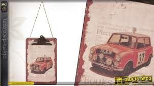 Bloc-notes mural à suspendre style vintage ancienne Austin Mini