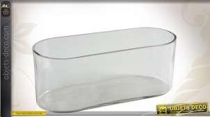 Corbeille en verre forme ovale