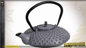 Théière en fonte coloris gris antique 0,80 litre