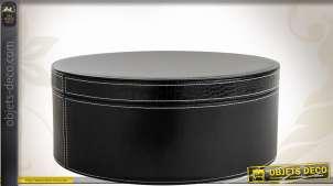 Boîte ronde décorative en similicuir imitation croco Ø 38 cm