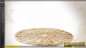 Lot de 12 dessous de plat en osier blanc Ø 25 cm