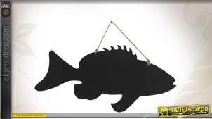 Tableau noir à suspendre en forme de poisson 73 cm