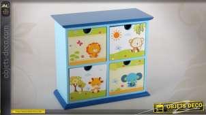 Mini-commode miniature à 4 tiroirs pour chambre d'enfant