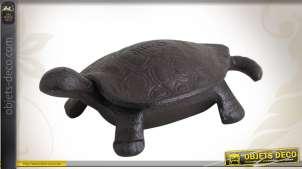 Coffret tortue en fonte avec carapace couvercle