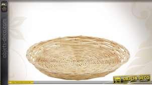 Corbeille plate en bambou Ø 25 cm