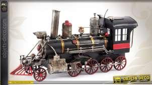 Reproduction décorative d'une vieille locomotive à vapeur 41 cm