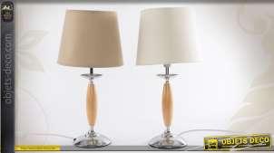 Ensemble de 2 lampes de chevet en bois et en métal 2 couleurs