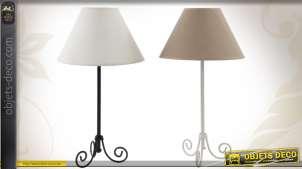 Duo de lampes de table en métal et abat-jour 2 couleurs