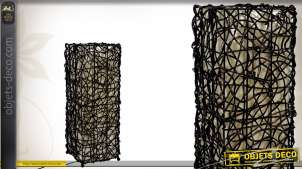 Lampe de table en rotin coloris noir