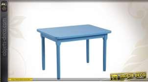 Table enfant en hêtre coloris bleu
