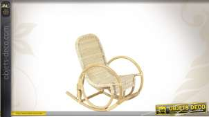 Rocking-chair enfant en rotin