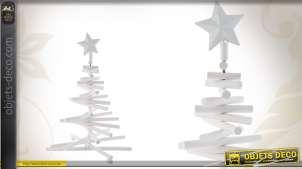 Arbre de Noël en bois coloris blanc