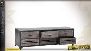 Meuble TV bois et métal de style industriel