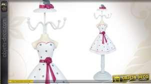 Mannequin porte-bijoux robe blanche