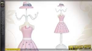 Mannequin porte-bijoux en robe rose